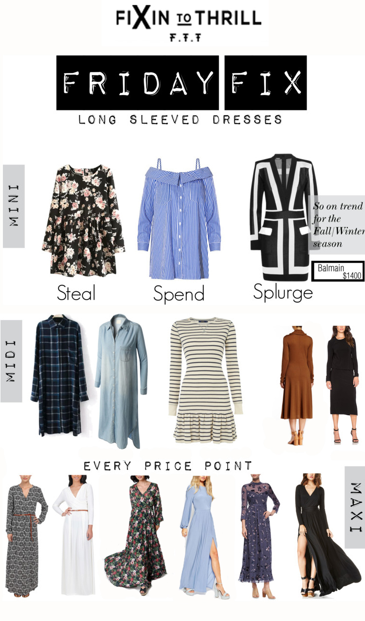 Fixin to Thrill | Austin Fashion Blog: Long Sleeved Dresses