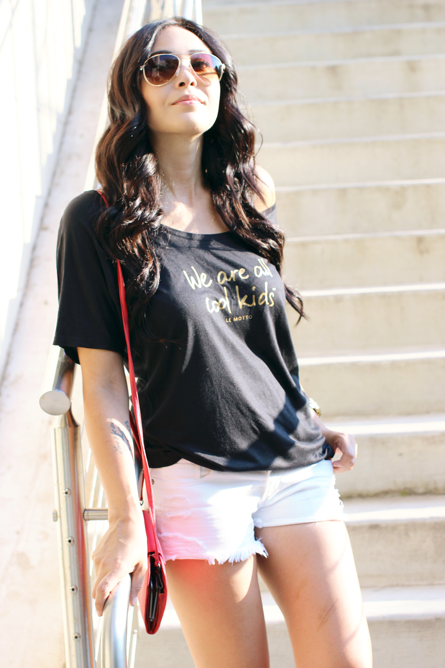 FIXIN-TO-THRILL-LE-MOTTO-ATX-AUSTIN-STYLE-BLOG-SKINNY-SHORTS-SANDALS-SHIRTS-WORDS-EMPOWERMENT-SPONSORED-TRENDS-FW15-TRENDY-CHIC-GLAM-FASHION-TEXAS-BLACK-2