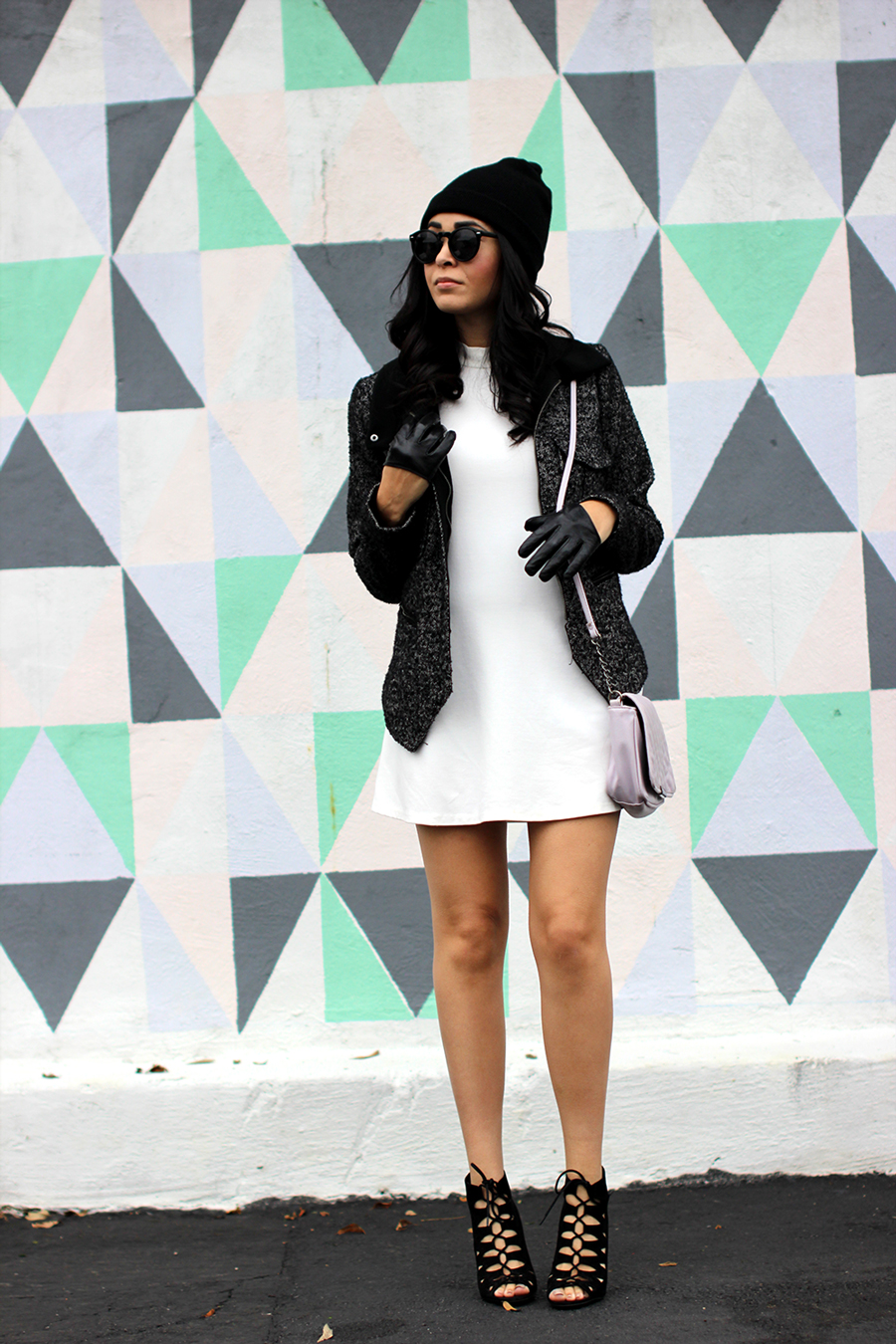 Fixin to Thrill: Tweed Coat and Shift Dress