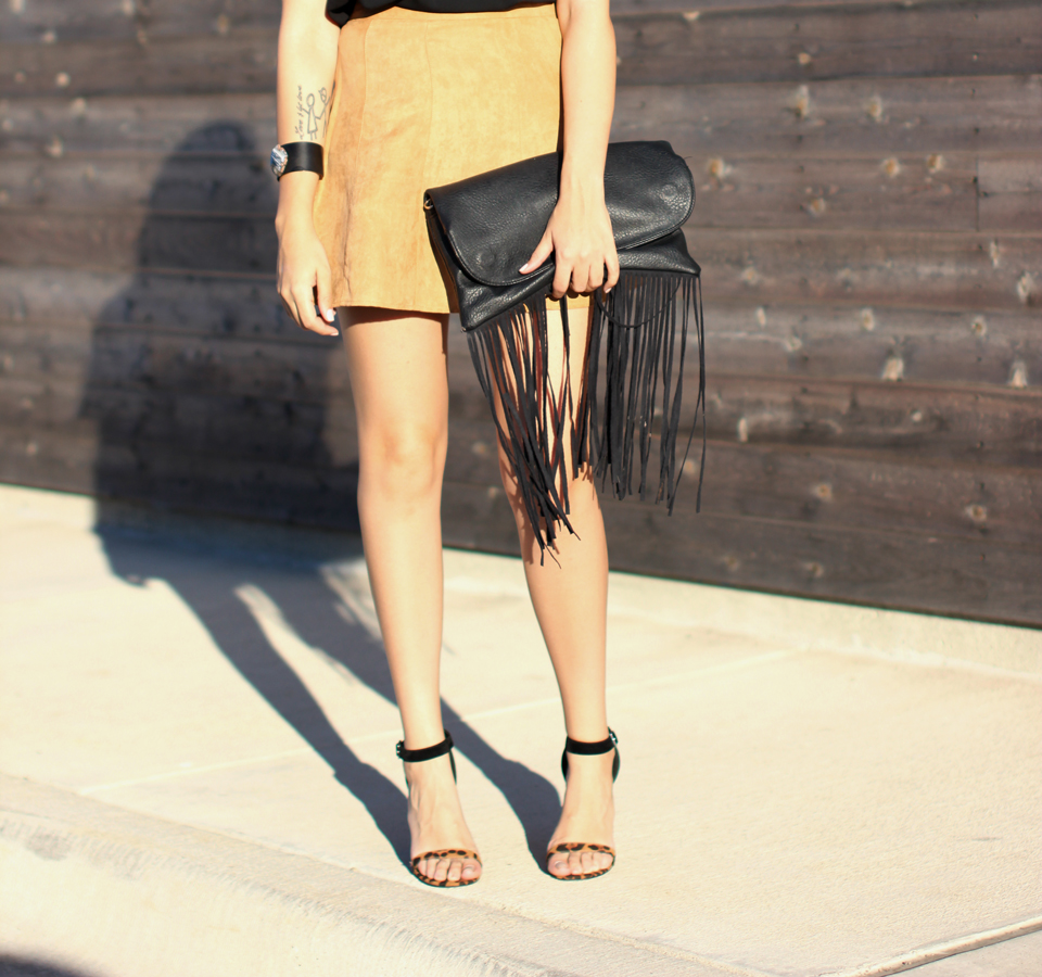 Fixin to Thrill| Austin Fashion Blog: Suede Skirt