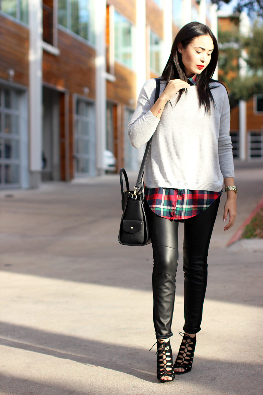 Fixin to Thrill: Modern Prep in leather and plaid