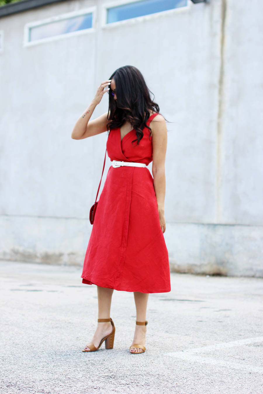 FTT-RED-WRAP-MIDI-DRESS-SUMMER-STYLE-5