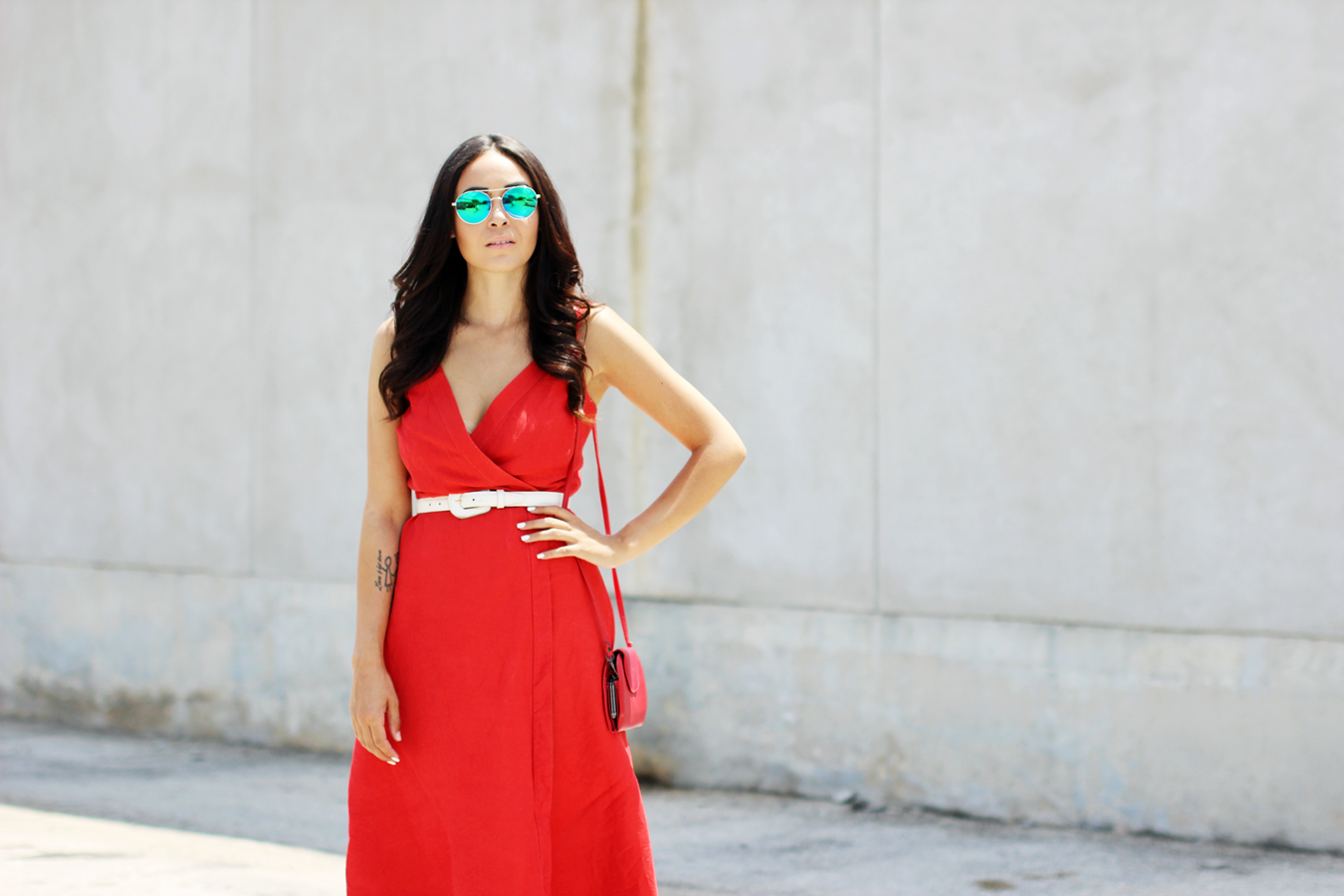 FTT-RED-WRAP-MIDI-DRESS-SUMMER-STYLE-8